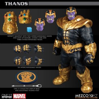 Mezco Toys One:12 Collective Marvel Comics Thanos Figure Pre-order - Full Payment